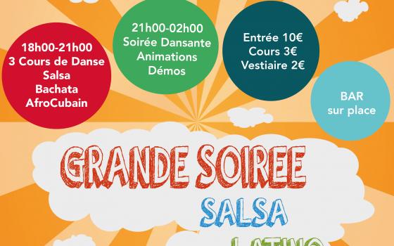 Soirée Salsa Latino pour le Téléthon – 10 Décembre à Clamart