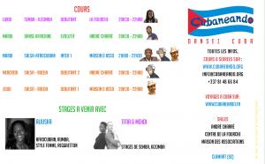 planning saison 2017-2018 cubaneando