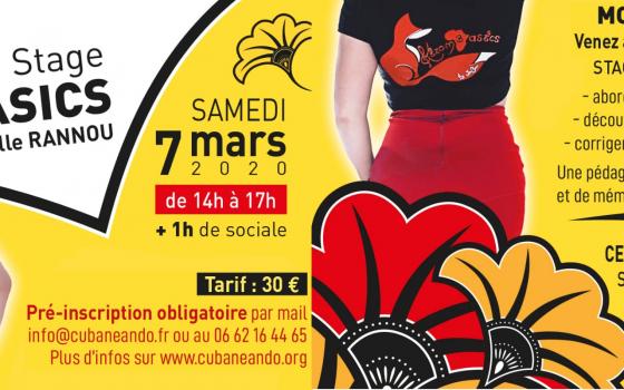 07 mars : Stage Kizomba, Module Initiation avec Gaëlle de Kizombasics